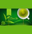 3d with a mug of green tea vector image vector image