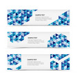 Abstract blue triangle horizontal banners vector image vector image