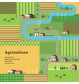 agriculture background yellow vector image vector image