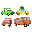antique vehicle colorful vector image vector image