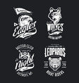 bikers club t-shirt isolated logo set vector image vector image