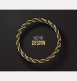 black and golden striped round frame isolated vector image vector image