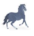 Black-horse vector image vector image