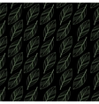 black seamless leaves vector image vector image
