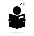 book reader icon vector image