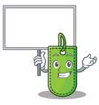 bring board price tag character cartoon vector image vector image