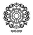 brushs patterns in a circle line black shape vector image vector image