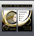 business brochure-template for beauty salons and vector image vector image