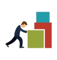 business person Pushing a block vector image
