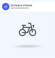 bycicle icon filled flat sign solid vector image vector image