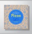 champignons pizza realistic cardboard box vector image