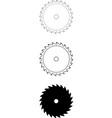circular-saw-blade-24tooth vector image vector image