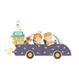 couple traveling car vector image