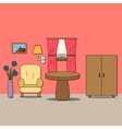Design of room - sitting room vector image vector image