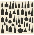 Different bottle types silhouette icons set vector image vector image