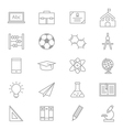 Education School and Science Icons Line Set Of vector image vector image