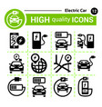 electric cars icons vector image vector image