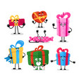 gift boxes funny present object packaging vector image vector image