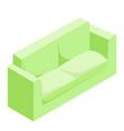 green sofa isometric vector image vector image