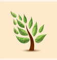 green tree concept symbol design for nature care vector image vector image