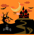 halloween castle background vector image vector image