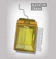 hand drawn elevator crash vector image