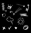 hand drawn set elementsarrow heart love star vector image vector image