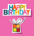 Happy Birthday Card Present Box Cut From Paper on vector image vector image