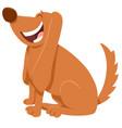 happy brown dog cartoon character vector image