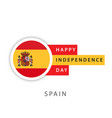 happy spain independence day template design vector image vector image