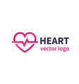 heart logo for cardiology clinic vector image vector image
