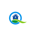 house land realty construction logo vector image vector image