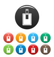 key connector icons set color vector image vector image