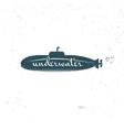 Label blue submariner vector image