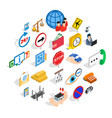 look after icons set isometric style vector image vector image