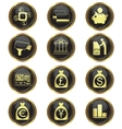 money business icon set vector image