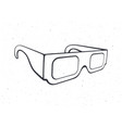 outline paper 3d glasses isometric view stereo vector image