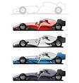 Racecars vector image vector image