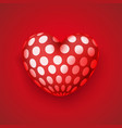 realistic dotted heart icon vector image vector image