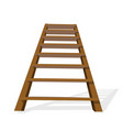 realistic wooden ladder on a white background vector image vector image