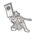 samurai warrior with gun weapon and armor ronin vector image vector image