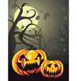 Scary Pumpkins in Forest vector image vector image