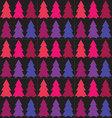 Seamless pattern of Christmas treeTree pattern vector image