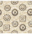Seamless pattern with buttons in retro style vector image vector image