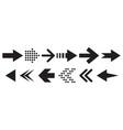 set black arrows arrows icon arrows vector image