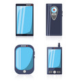 set differents design of smartphone technology vector image