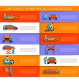 Set of auto mechanic car service repair and vector image vector image