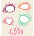 Set of floral doodle banners vector image vector image