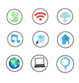 Set of network icons - icons vector image vector image