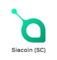 siacoin sc crypto coin ico vector image vector image